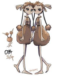 #84. Doduo (humanized/gijinka pokemon series by tamtamdi on tumblr)