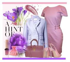 """Lavender & Pink"" by dns328 ❤ liked on Polyvore featuring Versace, Yves Saint Laurent, Carven and Sophia Webster"