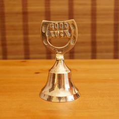 Vintage solid brass desk bell  Mid-high pitch  in by UKAmobile