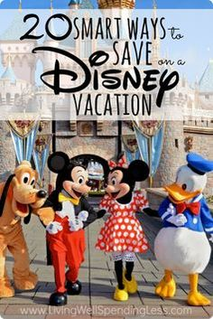 Vacations can get REALLY expensive...especially a Disney one! Here are 20 smart ways to save on your next Disney trip!