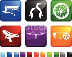 Bicycle Parts sticker set