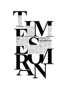 Times New Roman by Pedro Arbeláez, via Behance
