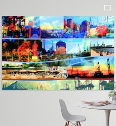 Neu in meiner Galerie bei OhMyPrints: Hamburg/Elbe /Collage-1