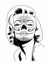 Sugar Skull Coloring Pages Http Asyrum Spreadshirt Com Sugar Skull