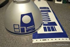 R2D2 desk lamp...However, This would be AWESOME to do to a dome lidded trashcan (adding feet, of course!)