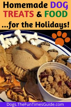 Why not make a tasty Turkey Day Feast for your dog too?! Lots of easy Holiday dog treat recipes AND homemade Holiday food recipes for your dog right here! | homemade dog recipes | dog holiday food