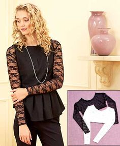 The Women's Extended Size Set of 2 Lace Layering Tops provides extra coverage under your warm-weather clothing.