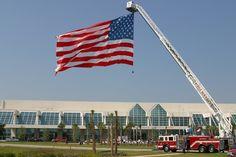American Flag  flown from Myrtle Beach Fire Depts ladder truck