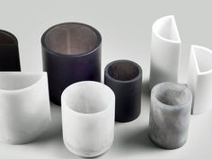 Resin Poured Circular Vases by Sturdy