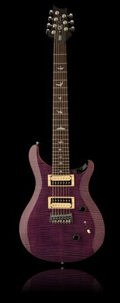 Not just a wild color, this one has an extra string, a low B.  Unique guitars always intrigue me!