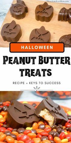Chocolate Shapes, Chocolate Almond Bark, Chocolate Candy Molds, Chocolate Treats, Chocolate Peanuts, Chocolate Recipes, Halloween Desserts, Halloween Treats, Halloween Party