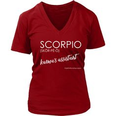 Definition of a Scorpio - KARMA'S ASSISTANT V-neck T-shirt