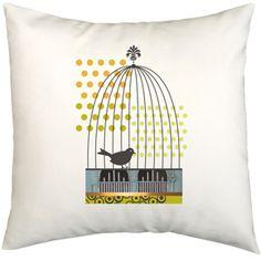 Birdcage Organic Cotton Pillow