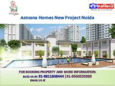 Ashiana Group New project Noida: +91-9560535989 Ashiana Group, a premier real estate development firm in India who has delivered multi projects in Ghaziabad, Greater Noida, Gurgaon, Bhubneshwar, Jaipur etc. is COMING SOON in NOIDA for the first time, in Sector - 79, with Launch of their most awaited Lux urious Low density Project titled Ashiana Homes offers 3 and 4 BHK fully furnished apartments near to Proposed Metro station at an unbeatable price, much more than you expect.