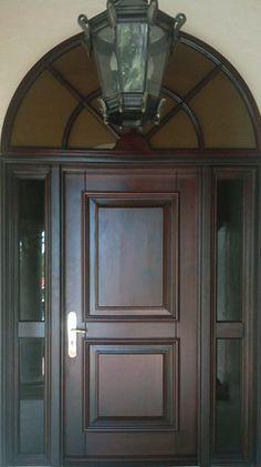 Hurricane Impact Doors Miami | Exterior French Door | Mahogany Wood |  Tropical Mouldings