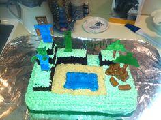 Homemade minecraft cake!