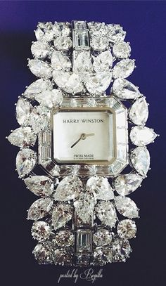 Harry Winston diamond watch (round, pear shaped & baguette cuts)