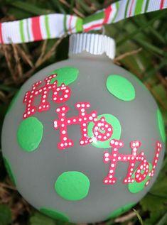 Hand Panted Christmas Ornament  Ho Ho Ho by SassyPeasDesigns, $12.00