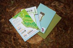 woodland-inspired wedding invitation