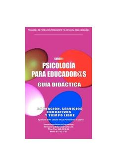 Guia Didactica Curso Psicologia para Educadores
