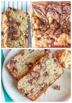 Nutella Swirls + Peanut Butter in the batter + Banana Bread. The best quick bread ever!