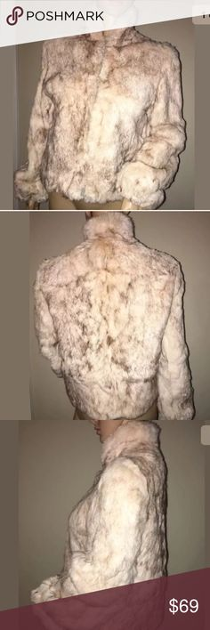 Vintage Neiman Marcus Cream Real Rabbit Fur Coat S Vintage Neiman Marcus Cream Real Rabbit Fur Coat sz S Made In Hong Kong. Small staying on inner lining of coat please see pictures of condition. Neiman Marcus Jackets & Coats