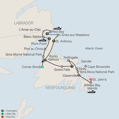 Travel to eastern Canada & tour, St. Canada Tours, Canada Travel, Newfoundland Canada, Newfoundland And Labrador, Tour Quotes, Nova Scotia Travel, Gros Morne, East Coast Road Trip, Places To Travel