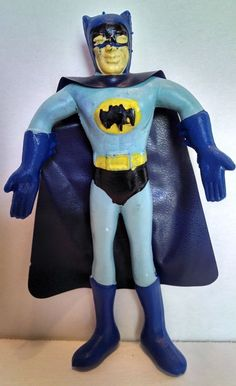 AWESOME Batman Bendie Made In Hong Kong. Cape included! DC Marvel