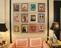 Framed magazine covers via The Pursuit of Style blog.