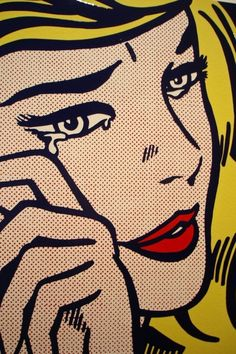 """Crying Girl"" (1964) by Roy Lichtenstein, I've always much preferred Roy Lichenstein to Andy Warhol when it comes to pop art."