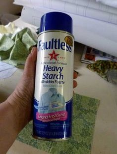 How to Cut Fabric Without Interfacing --Secret Weapon: Spray Starch