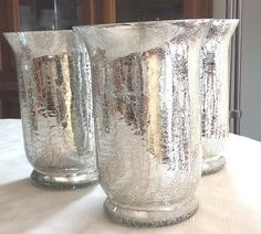 silver crackle vase - Google Search