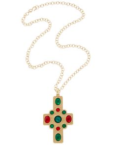 Spotted this Kenneth Jay Lane 30in Cross Pendant on Rue La La. Shop (quickly!).