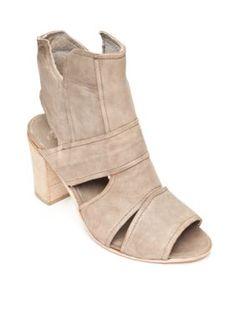 Free People Gray Effie Block Heel Sandal