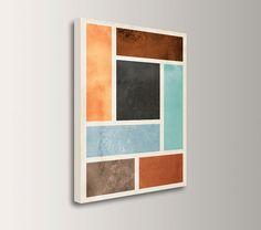 "Mid Century Modern - Canvas Print - Modern, Minimal Abstract Wall Art - Canvas Wall Decor - "" Median "" on Etsy, $79.00"