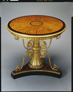 Pedestal table. Morel & Seddon (cabinet maker) 1828