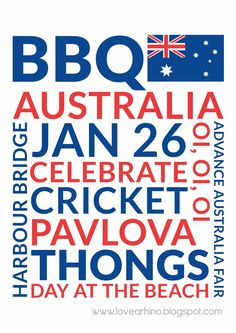 Australia Day- the day white man came & took everything! You won't see an Aboriginal person celebrating.