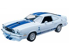 1976 Ford Mustang Cobra II Charlie's Angels (TV Series White with Blue Racing Stripes by Greenlight 12880 Mustang Cobra, Ford Mustang, Original Tv Series, The Originals Tv, Childhood Tv Shows, Summit Racing, Racing Stripes, Diecast Model Cars, Ford Models