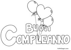 buon-compleannol-paloncini-2 New Years Eve Party, Paper Art, Birthdays, Bullet Journal, Printables, Lettering, Cupcake, Book, Alphabet