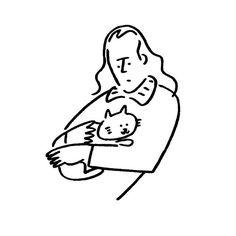 Brian Eno. #brianeno #cat #kaerusensei #長場雄 #yunagaba