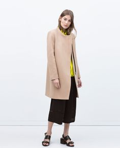 CONTRAST ZIP CROSSOVER COAT-Outerwear-WOMAN-SALE   ZARA United States