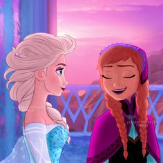 The cold never bothered us anyway. A beautiful scene. Frozen Disney, Frozen Elsa And Anna, Disney Pixar, Frozen Photos, Frozen Pictures, Frozen Fan Art, Frozen Drawings, Disney Drawings, Disney Animation