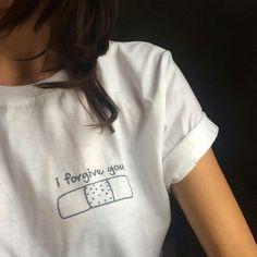 I Forgive You Bandage T-shirt $12.99 ; Pocket Tee ; #Tumblr ; #Hipster Teen Fashion ; Shop More Tumblr Graphic Tees