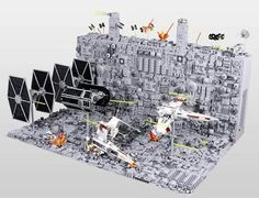 80 inches -2 meters wide Death Star Lego Diorama