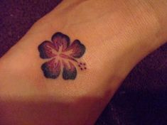 Small Hibiscus Tattoo....I want to get one on my 30th this year!!