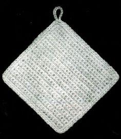 Square Potholder | Crochet Patterns- great site for crochet patterns