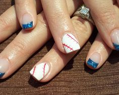 Baseball Nail tip Designs for Girl