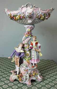 Antiques Atlas - Antique Porcelain Sitzendorf Centrepiece Compote