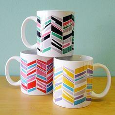 Zig Zag mugs from Rock Scissor Paper