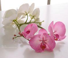 Лучшие работы : Ветки орхидеи фаленопсис для украшения прически - Fito Art